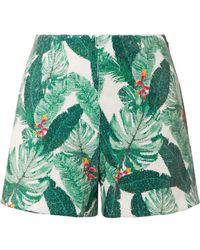 Rachel Zoe - Miley Sequined Crepe Shorts - Lyst