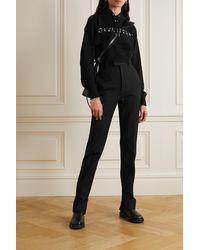 Givenchy Sweat À Capuche Raccourci En Jersey De Coton À Broderies Et À Finitions En Dentelle - Noir
