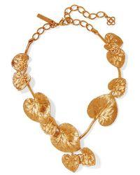 Oscar de la Renta Gold-tone Necklace - Metallic