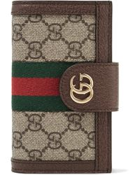 Gucci - Leather And Chain-trimmed Printed Coated-canvas Iphone 7 And 8 Case - Lyst