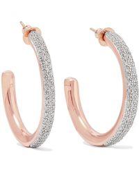 Monica Vinader - Fiji Rose Gold Vermeil Diamond Hoop Earrings - Lyst