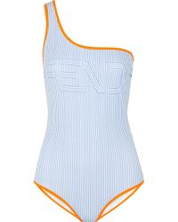 Fendi - One-shoulder Printed Swimsuit - Lyst