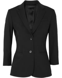 The Row - Schoolboy Stretch Wool-blend Crepe Blazer - Lyst