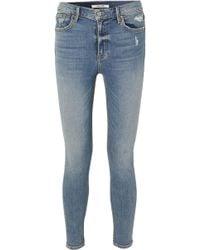 GRLFRND | Kendall Petite Distressed High-rise Skinny Jeans | Lyst