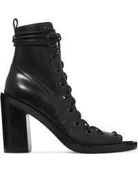 Ann Demeulemeester - Lace-up Leather Ankle Boots - Lyst