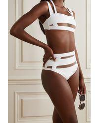 Agent Provocateur Haut De Bikini À Empiècement En Résille Fynlee - Blanc