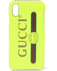 Gucci - Printed Textured Iphone X Case - Lyst