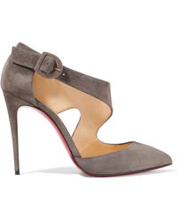 Christian Louboutin - Sharpeta Suede Court Shoes - Lyst