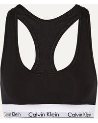 Calvin Klein Modern Cotton Soft-bh Aus Einer Baumwollmischung Mit Stretch-anteil - Schwarz