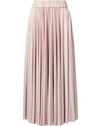 Co. - Stretch-satin Jersey Midi Skirt - Lyst