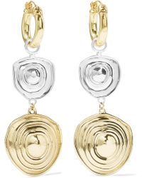 Ellery - Aegean Gold And Silver-plated Earrings - Lyst