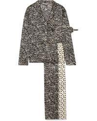Stella McCartney - Scarlet Snuggling Printed Stretch-silk Pajama Set - Lyst