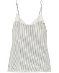 Eberjey - The Dreamer Lace-trimmed Striped Stretch-modal Camisole - Lyst