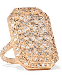 Carolina Bucci - 18-karat Rose Gold Diamond Ring - Lyst