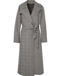 Nili Lotan - Topher Distressed Prince Of Wales Checked Wool-blend Tweed Coat - Lyst