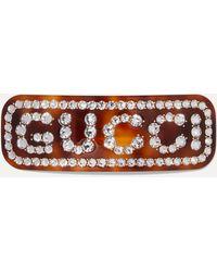 Gucci - Einzelne Haarspange mit Kristall-Motiv - Lyst