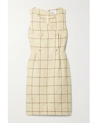 Lisa Marie Fernandez + Net Sustain Double-breasted Checked Linen-blend Dress - Natural