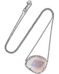 Kimberly Mcdonald - 18-karat Blackened White Gold, Geode And Diamond Necklace - Lyst