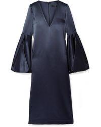 Ellery - Clover Silk-satin Midi Dress - Lyst