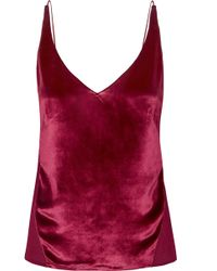 J Brand - Lucy Velvet And Silk-georgette Camisole - Lyst
