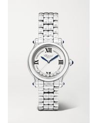 Chopard Happy Sport Limited Edition Automatic 33mm Stainless Steel And Diamond Watch - Grey