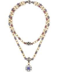 Amrapali - 18-karat Gold, Sterling Silver And Multi-stone Necklace - Lyst