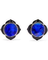 Noor Fares - Muladhara 18-karat Gold, Enamel And Opal Earrings - Lyst