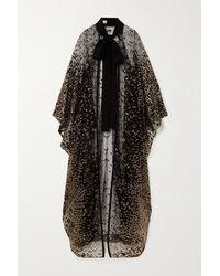 Elie Saab Draped Sequin-embellished Silk-blend Tulle Cape - Black