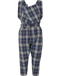 Vivienne Westwood - Oversized Draped Tartan Wool Overalls - Lyst
