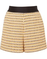 Maje - Metallic Cotton-blend Tweed Shorts - Lyst