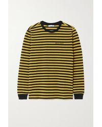Bella Freud T-shirt Aus Gestreiftem Jersey Aus Einer Baumwollmischung - Mettallic