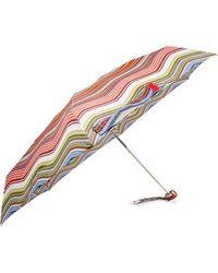 Missoni Aggie Striped Shell Umbrella - Red