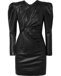 Isabel Marant - Cobe Knotted Leather Mini Dress - Lyst