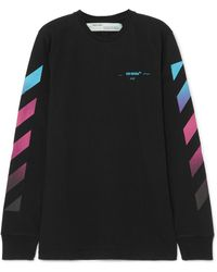 Off-White c/o Virgil Abloh - Printed Cotton-jersey Top - Lyst