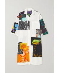 Dries Van Noten Dorali Oversized Printed Cotton-poplin Shirt Dress - White