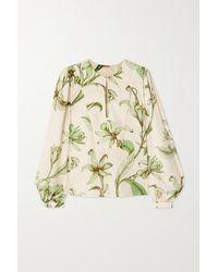 Johanna Ortiz - Andean Garden Bluse Aus TM-twill Mit Blumenprint - Lyst