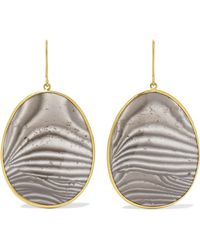 Pippa Small - 18-karat Gold Agate Earrings - Lyst
