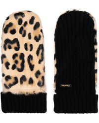 Miu Miu | Leopard-print Calf Hair And Cashmere Mittens | Lyst