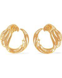 Mallarino - Pepa Gold Vermeil Hoop Earrings - Lyst