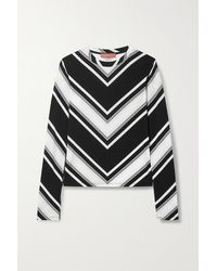 Commission Striped Stretch-jersey Top - Black
