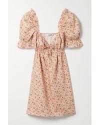 Reformation Mini-robe En Lin À Imprimé Fleuri Et À Volants Channa - Multicolore