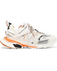 Balenciaga - Track Logo-detailed Leather, Mesh And Rubber Sneakers - Lyst
