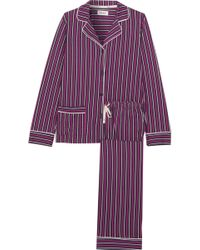 DKNY - New Classic Striped Cotton-blend Jersey Pyjamas - Lyst