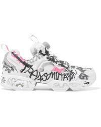 174e01cf2c6 Vetements - + Reebok Instapump Fury Printed Neoprene And Mesh Sneakers -  Lyst