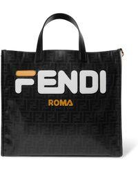 Fendi - Mania Logo Shopper - Lyst