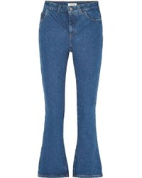 Attico - Cropped High-rise Flared Jeans - Lyst