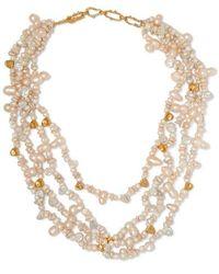 Pacharee - + Pach Tach Kette Mit Perlen Und Vergoldeten Details - Lyst