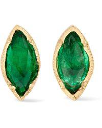 Brooke Gregson - 18-karat Gold Emerald Earrings - Lyst