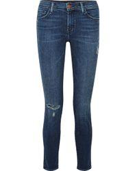J Brand - 811 Distressed Mid-rise Skinny Jeans - Lyst