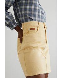 ALEXACHUNG Rosamund Organic Denim Mini Skirt - Multicolour